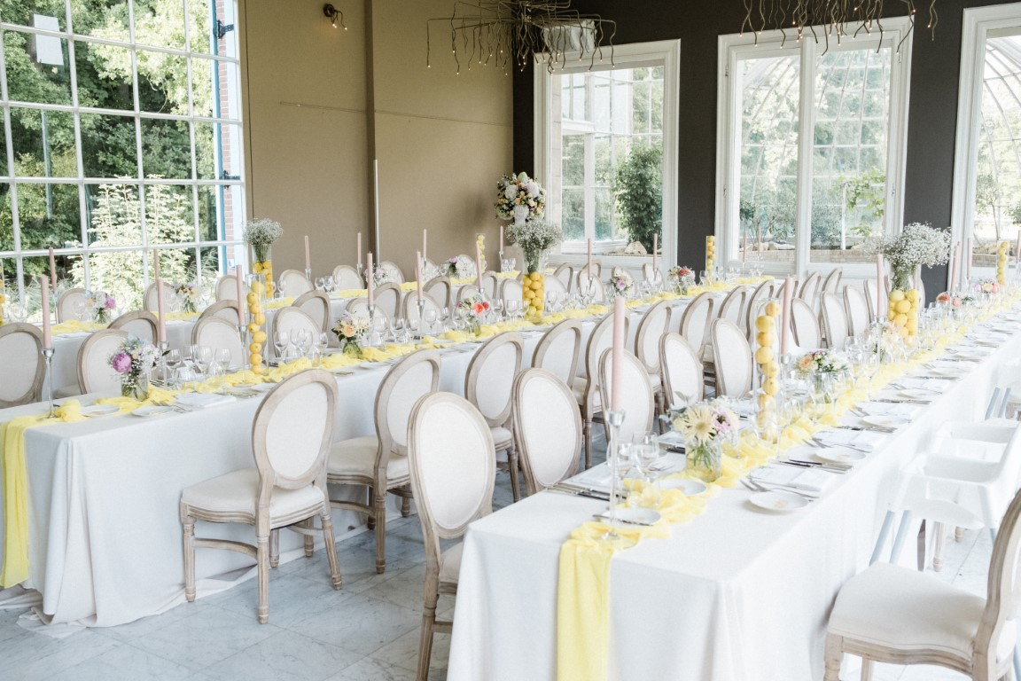 DIner opstelling bruiloft - weddingplanner Weddingbliz